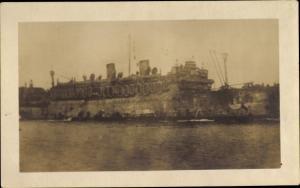Foto Ak USS Orizaba, Truppenschiff der amerikanischen Marine