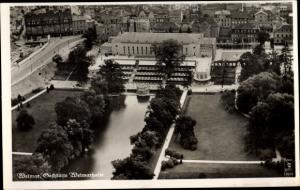 Ak Weimar in Thüringen, Gaststätte Weimarhalle, Fliegeraufnahme Klinke & Co. 12659