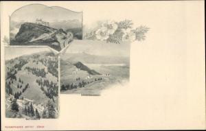 Ak Rigi Kulm Kanton Schwyz, Gipfelhotel, Panorama