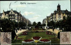 Ak Szczecin Stettin Pommern, Augustaplatz