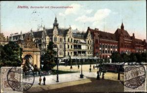 Ak Szczecin Stettin Pommern, Berliner Tor, Oberpostdirektion