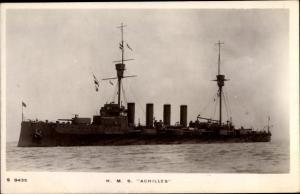 Ak Britisches Kriegsschiff HMR Achilles