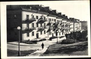 Ak Mariensztat Warszawa Warschau Polen, Straßenpartie, Wohnhäuser