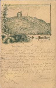 Litho Hörselberg Hainich in Thüringen, Ortspartie
