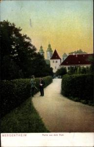 Ak Bad Mergentheim in Tauberfranken, Partie aus dem Park