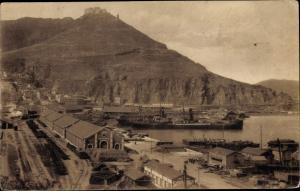 Ak Oran Algerien, Le Port et le Diebel Mourdjajo, Panorama