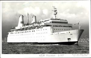Ak Fährschiff Azur, 1977