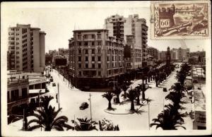 Ak Casablanca Marokko, Boulevard du 4e Zouaves et la rue de Foucault