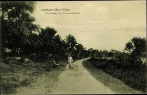 Ak Daressalam Dar es Salaam Tansania, Strandweg, Deutsch Ostafrika
