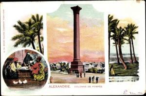 Ak Alexandria Ägypten, Colonne de Pompee