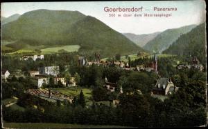 Litho Sokołowsko Görbersdorf Polen, Panorama vom Ort