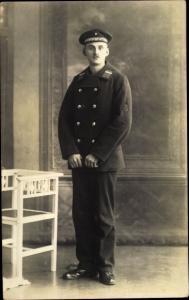 Foto Ak Deutscher Marine Soldat, Minensuchflottille, Portrait