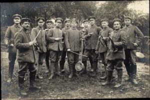 Foto Ak Deutsche Soldaten in Uniform, Musikcorps