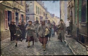 Ak Wirklichskeitsbilder vom Kriegsschauplatz, Französische Gefangene, Kriegsgefangene I. WK