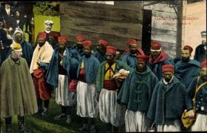 Ak Gefangene Zuaven, Kriegsjahr 1914/15, Kriegsgefangene