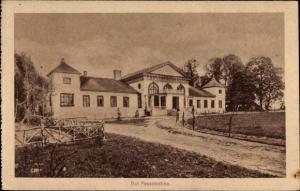 Ak Pessotochna Polen, Blick auf das Gut, Herrengut, Herrenhaus
