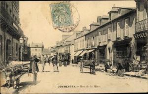 Ak Commentry Allier, Rue de la Mine, Esel