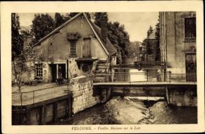 Ak Vendôme Loir et Cher, Vieilles Maisons sur le Loir