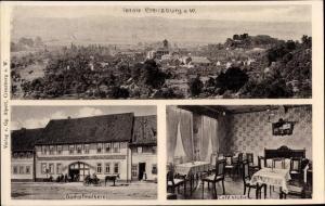 Ak Creuzburg an der Werra, Dampfmolkerei, Kaffeestube, Totalansicht