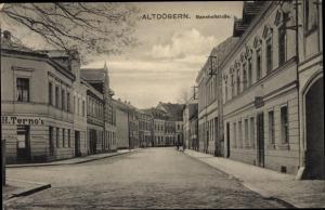 Ak Altdöbern in der Niederlausitz, Bahnhofstraße, Geschäft H. Terno