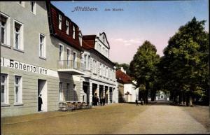 Ak Altdöbern in der Niederlausitz, Am Markt, Hotel Hohenzollern