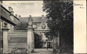 Ak Lübben im Spreewald, Landhaus, Pro Principe et Patria