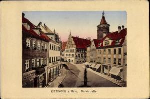 Ak Kitzingen in Mainfranken Bayern, Marktstraße