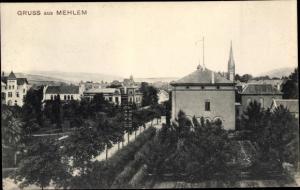 Ak Mehlem Bad Godesberg Bonn am Rhein, Straßenpartie, Gebäude