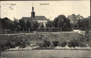 Ak Żagań Sagan Schlesien, Bergelkirche