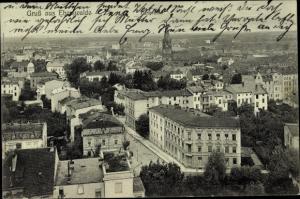 Ak Eberswalde im Kreis Barnim, Blick über die Dächer der Stadt