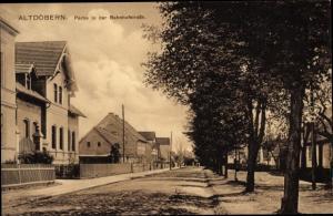 Ak Altdöbern in der Niederlausitz, Bahnhofstraße