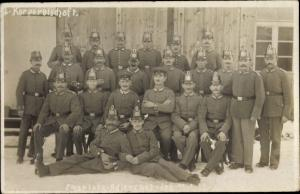 Foto Ak Berlin Treptow Adlershof, Korporalschaft, Flugplatz 1917