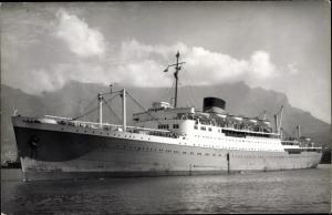Foto Ak Steamer Mediterranean Star, Dampfschiff, Bloemfontein Castle