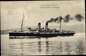 Ak Dampfer SS Prinses Juliana, Kanalfähre SMZ