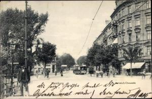 Ak Hamburg, Hoheluft Chaussee, Straßenbahn