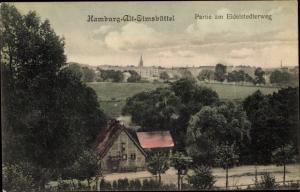 Ak Hamburg Eimsbüttel, Partie am Eidelstedter Weg