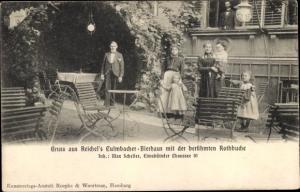 Ak Hamburg Eimsbüttel, Reichel's Kulmbacher Bierhaus mit der Rotbuche, Familie, Eismbütteler Chausse
