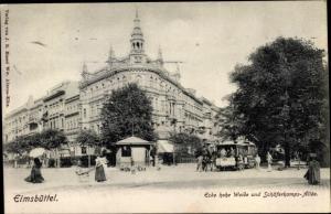 Ak Hamburg Eimsbüttel, Ecke hohe Weide und Schäferkampsallee, Straßenbahn