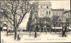 Ak Hamburg St. Pauli, Reeperbahn und Heinestraße