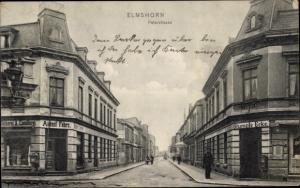 Ak Elmshorn im Kreis Pinneberg, Peterstraße, Bäckerei August Fehrs, Stumpfe Ecke
