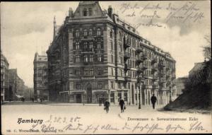 Ak Hamburg St. Pauli, Dovestraße und Seewartenstraße Ecke