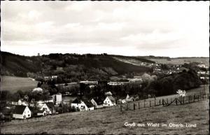 Ak Wiehl im Oberbergischen Kreis, Blick über Felder zur Ortschaft