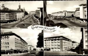 Ak Rheydt Mönchengladbach im Ruhrgebiet, Limitenstraße, Stresemannstraße, Königstraße