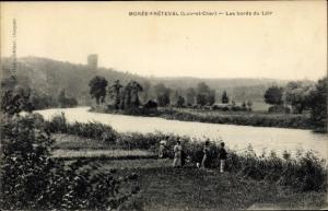 Ak Morée Loir et Cher, Fréteval, Les Bords de Loir