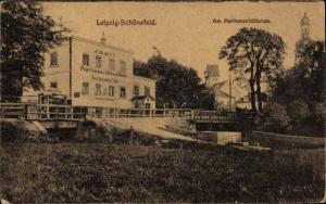 Ak Leipzig Schönefeld, Resataurant, Cafe Parthenschlösschen