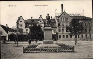 Ak Groitzsch in Sachsen, Bismarck Denkmal