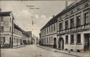 Ak Teuchern in Sachsen Anhalt, Zeitzer Straße, Restaurant zur Post