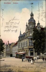 Ak Groitzsch in Sachsen, Rathaus