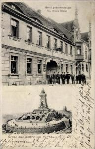 Ak Kelbra im Kreis Mansfeld Südharz, Hotel goldene Sonne, Kyffhäuser Denkmal