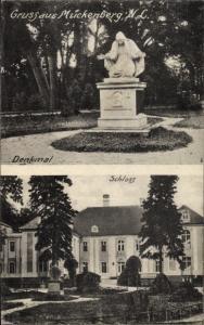 Ak Mückenberg Lauchhammer in der Niederlausitz, Denkmal, Schloss